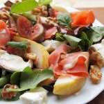 Pear Goat Cheese and Fig Salad