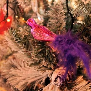 Christmas Glass Peacock
