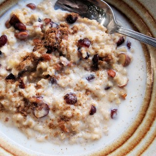 Day Seven on the Advent Calendar and Spiced Fruit and Nut Winter Porridge