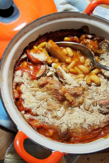 - Cheat's French Style Cassoulet - Sausage and Bean Casserole in the Slow Cooker or Le Creuset