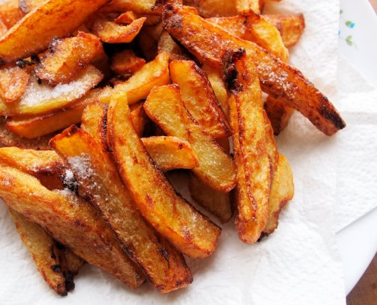 Chips, Frites, Pommes Frites, French Fries…….National Chip Week & Crispy Squashed Chips