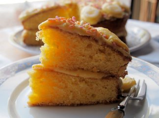 Fresh Orange Layer Cake with Citrus Curd Buttercream