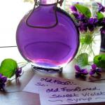 Old Fashioned Sweet Violet Syrup for Easter & Mothering Sunday Cakes & Bakes