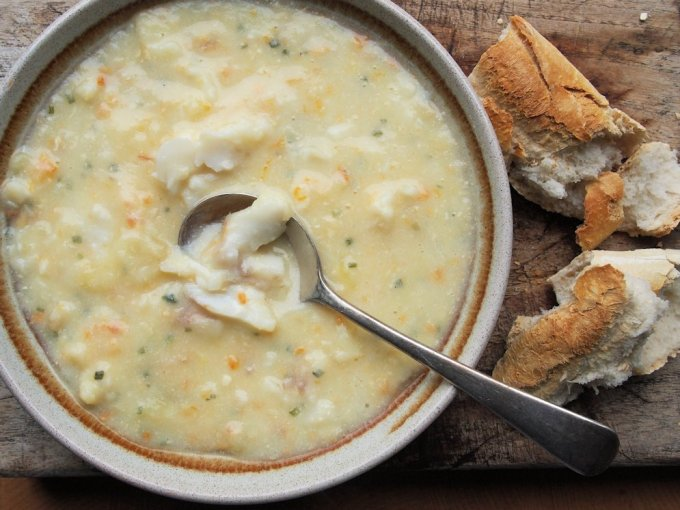 Cullen Skink with Smoked Whiting