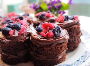 Chocolate and Violet Fancies
