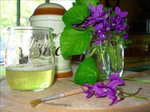 Home-made Crystallised Violets
