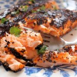 Chilli and Garlic Blackened Salmon Fillets
