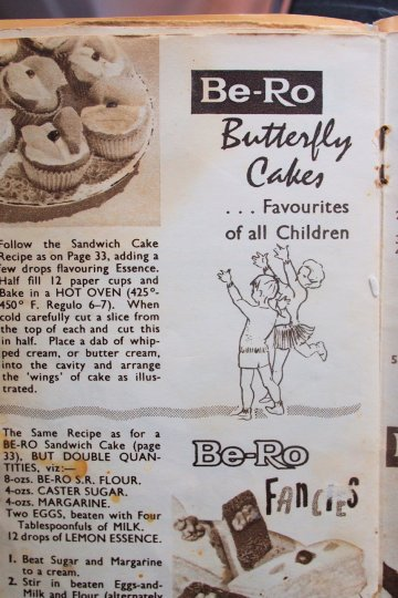 1950's Retro Cookbook by Be-Ro Flour - Butterfly Cakes & Fancies