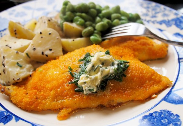 Hasty Tasty Baked Plaice with Chive Butter (Gluten Free)