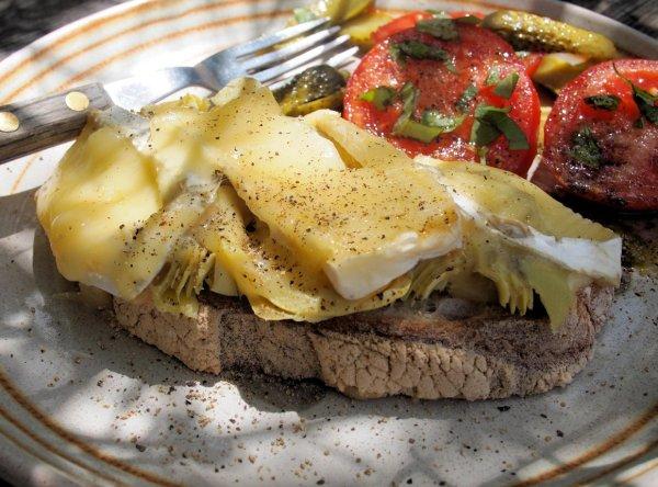 Vegetarian Tartiflette Open Toastie