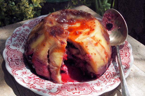 Berry Bread & Butter Summer Pudding