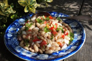 French Flageolet Bean Salad with Tomatoes and Herbs