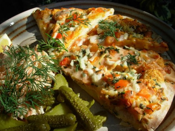 Scottish Smoked Salmon, Home-Made Pizza and The Secret Recipe Club