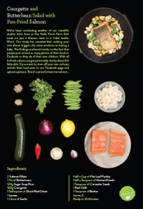 Courgette & Butterbean Salad with Pan-Fried salmon