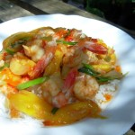 Chilli Prawn Stir-Fry with Mangoes