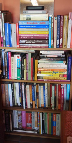 A Library, Some Wine Boxes and My Cook Book Collection......