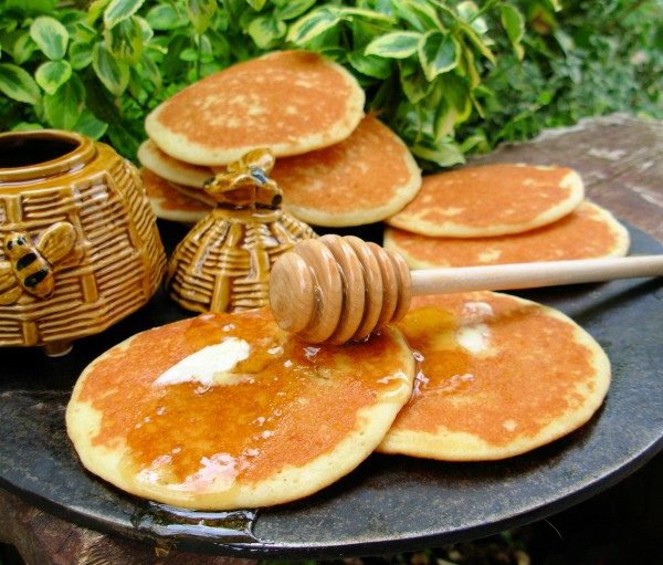 Scotch Griddle Cakes with Heather Honey