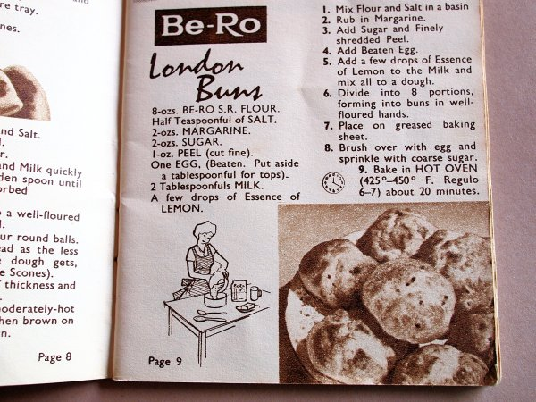 "Sepia Saturday on Sunday! London ""Bath"" Buns for Best of British and Seventy Years of Be-Ro Baking"