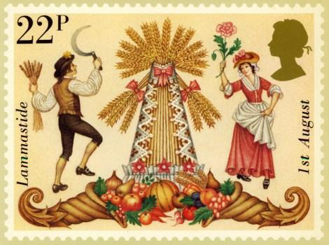 Lammas Day British Stamp