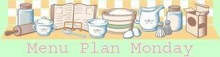 Menu Plan for Week Beginning 27th August 2012