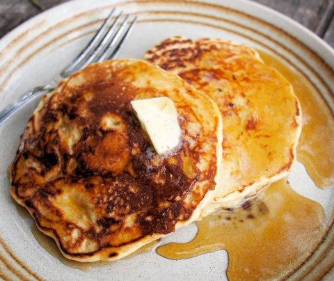 Porridge Pancakes with Honey
