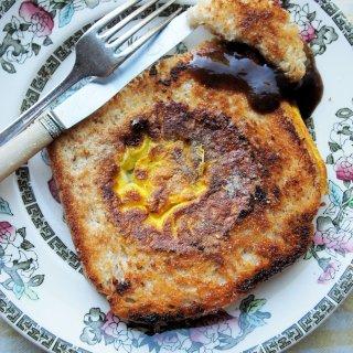 Egg in a Nest: WW2 Mock Fried Egg Recipe