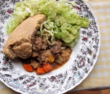 Scottish Vegetable and Meat Pudding