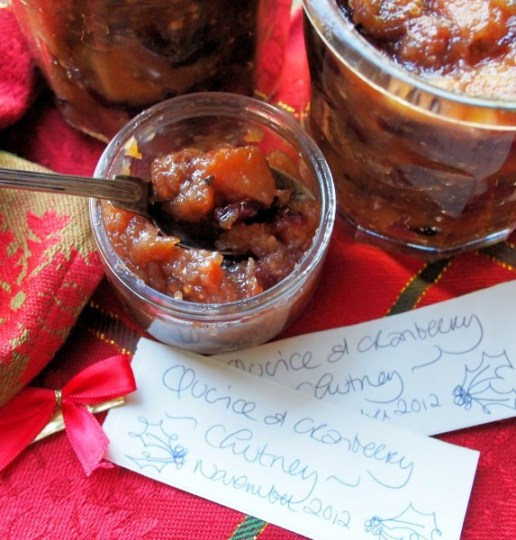 Spiced Quince & Cranberry Chutney