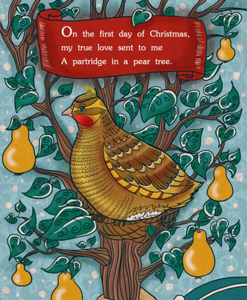 Twelve Days of Christmas - A Partridge in a Pear Tree - Lavender and Lovage
