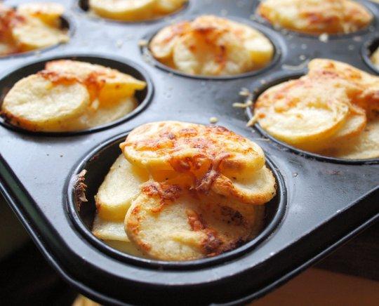 Mini Muffin Dauphinoise Potatoes,