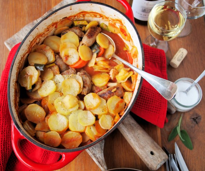 """Sunday Lunch"" Chicken, Sausage and Vegetable Hotpot"