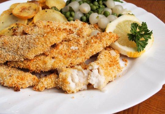 Low-Calorie Haddock Goujons with Garlic Panko Crumb