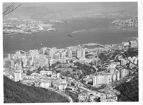 Hong Kong Harbour from the Peak 1960's