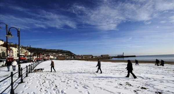 Snowy Scarborough Seafront