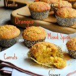 Brown Butter, Carrot and Orange Muffins