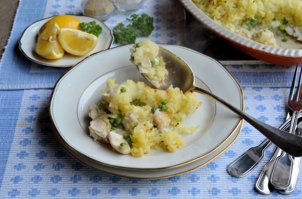 Easy Cheesy Family Fish Pie Recipe for the 5:2 Diet (300 calories)