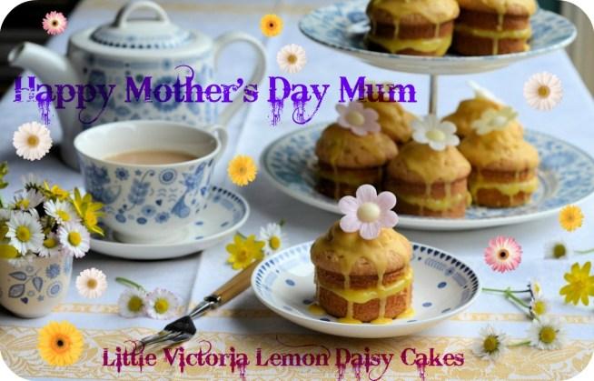 Mothering Sunday & a Posy of Daisies: Little Victoria Lemon Daisy Cakes Recipe