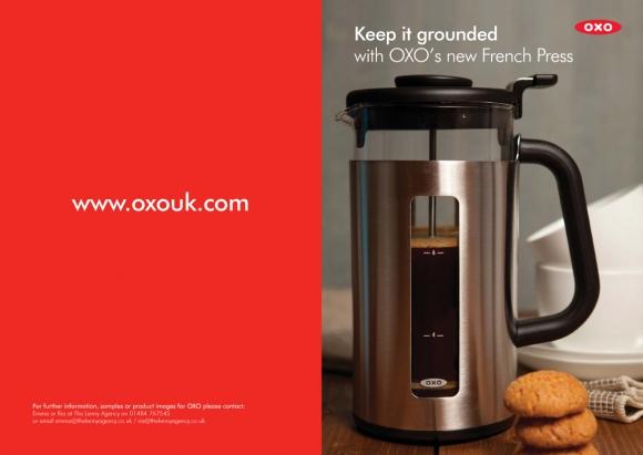Review & Recipe: OXO French Press, Irish Coffee and Douwe Egberts