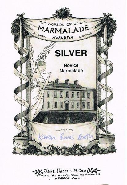 Marmalade Awards Silver