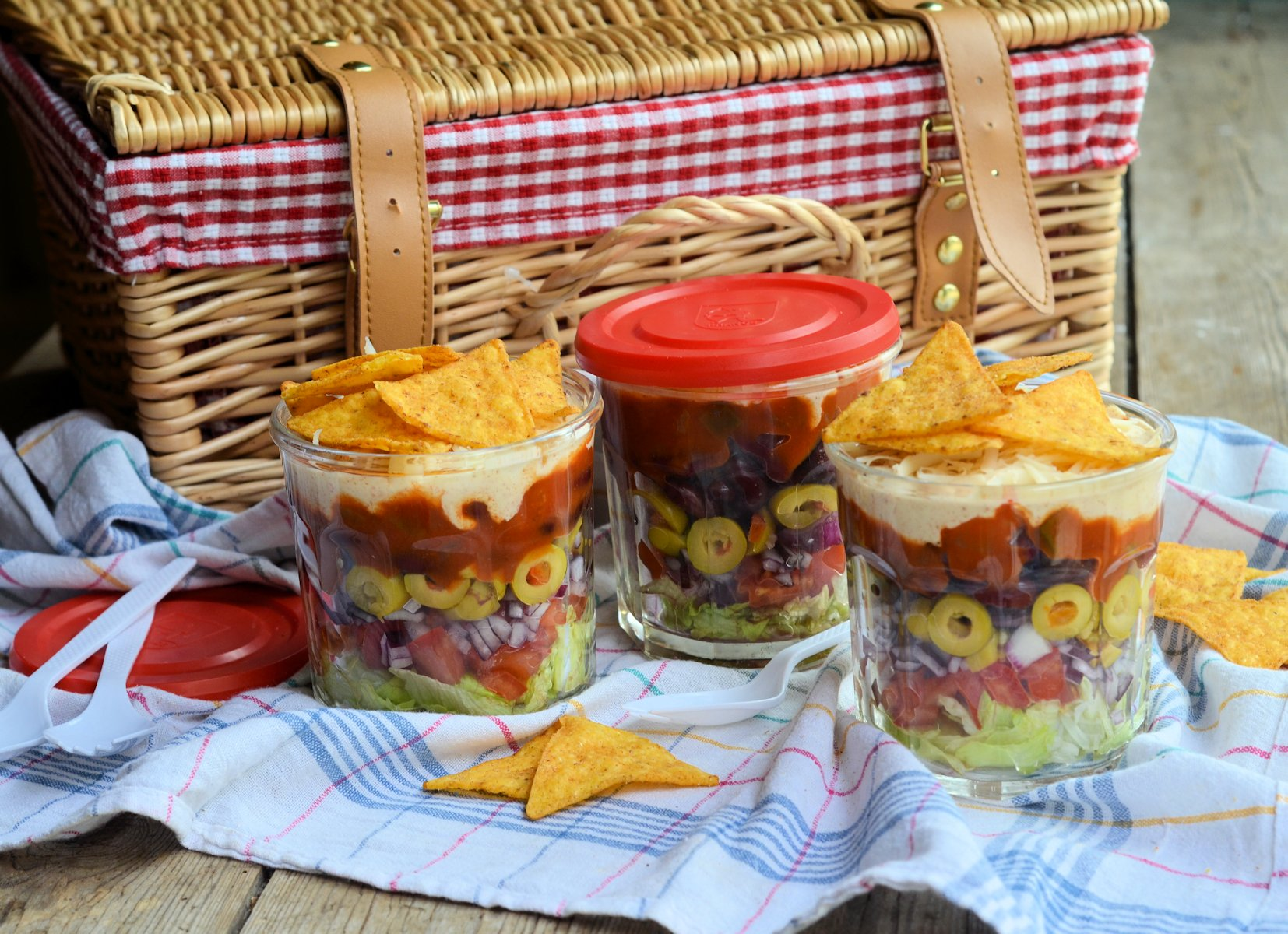 Picnics Lunch Box And Barbecue Salad Idea Layered Picnic Salads