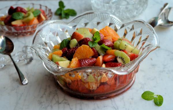 Lazy Saturday Salad Recipe: Strawberry and Mint Fruit Salad