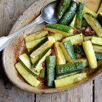 Sautéed Courgettes (Zucchini) with Sun-Dried Tomatoes & Basil