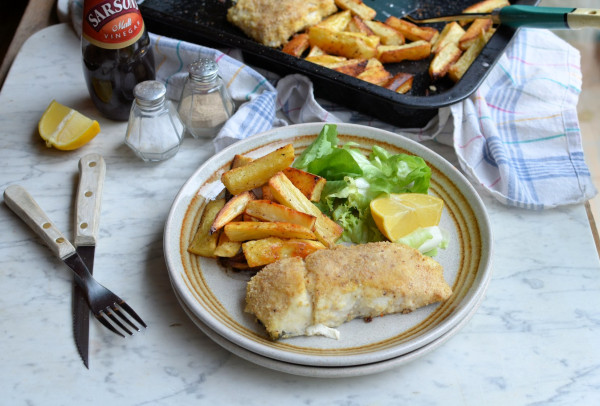 Baked Hake & Oven Chips