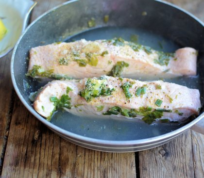 Herb Poached Salmon