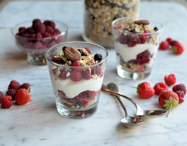 The Secret Recipe Club: Raspberry & Maple Granola Yoghurt Pots