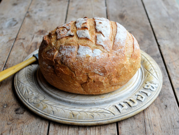 Slow Sunday Brunch: Welsh Rabbit with Home-made Rustic French Boule (Bread)