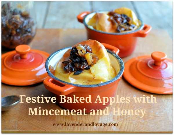 Festive Baked Apples with Mincemeat and Honey