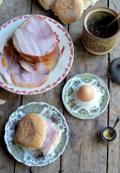 High Tea with Ham and Eggs