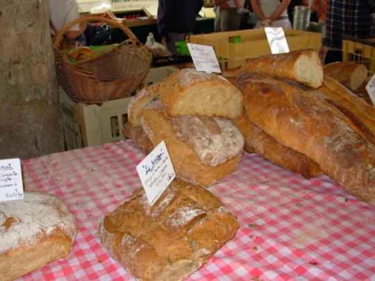 Locally baked artisan bread, Cozes Market, SW France