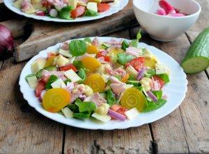 Yellow Beetroot Winter Salad
